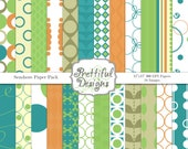 Digital Paper Pack  - Personal and Commercial Use - Seashore