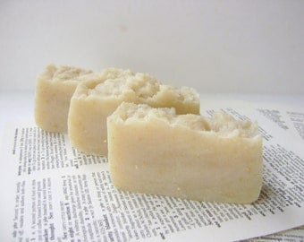 Dry Skin Soap for Body and Face, Rose and Patchouli Soap with Oatmeal