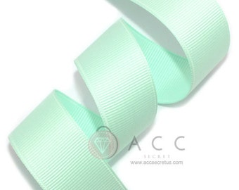 5Yards Pale Blue Solid Grosgrain Ribbon - 5mm(2/8''), 10mm(3/8''), 15mm(5/8''), 25mm(1''), and 40mm(1 1/2'')