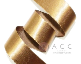 Light Brown Single Faced Satin Ribbon - 5mm(2/8''), 10mm(3/8''), 15mm(5/8''), 25mm(1''), 40mm(1 1/2''), and 50mm(2'')