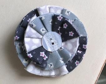 Cute Fabric Flower Brooch