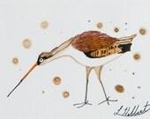 ON SALE-Sandpiper Original Watercolor