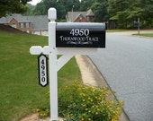 Mail Box Decals with House Numbers and Street Name