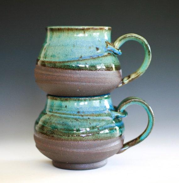 Pair of Large Coffee Mugs handmade ceramic cups ceramic