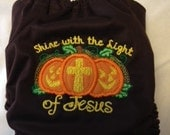 Light of Jesus Pumpkin Halloween Cloth Diaper