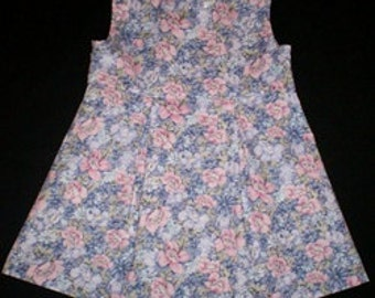 Lavender, Pink, Blue Floral Dress Available in 2 Sizes