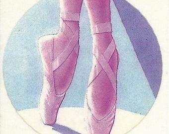 Vintage 80's Lisa Frank Ballet Shoes Sticker