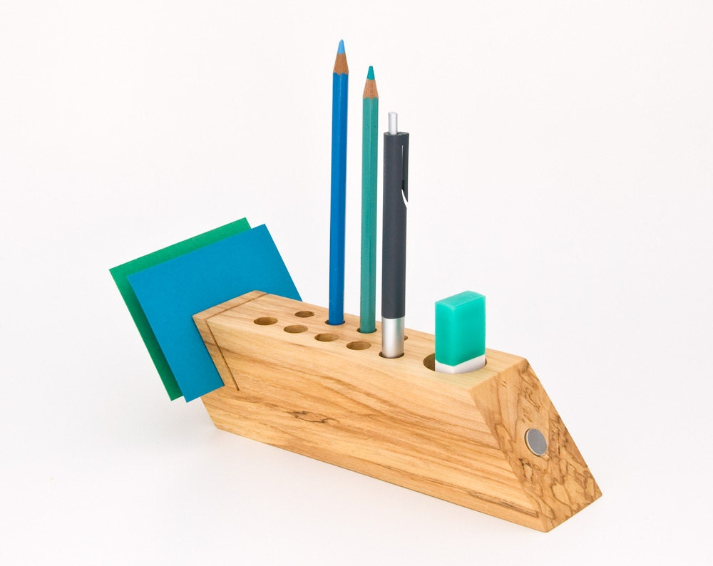 Desk caddy wood desk organizer office accessories by - Desk organization accessories ...