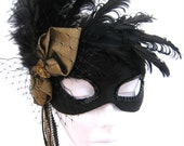 Carnival Mask- Gold and black masquerade mask