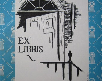 HP Lovecraft Ex Libris Replica Library Bookplate - 30 Book Name Plates or Gift Tags