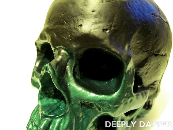 Limited Edition Chalkboard Skull - Morbid Messages - Lovecraft Lime Skull by Deeply Dapper