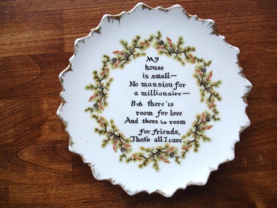 Sweet Small Home Saying decorative wall hanging plate