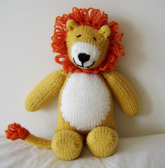 Free Knitting Pattern Toy Lion : Lion Toy Knitting Pattern images
