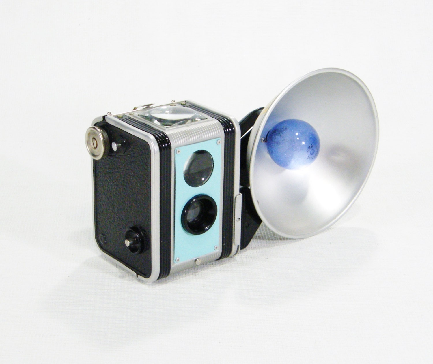 License Plate Camera >> one Vintage Aqua Blue Kodak Camera Upcycled