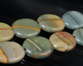 Listed @ 20% Off Sale Was 8.99---8 Pieces 13x18x5mm Lovely -Red Cherry CREEK JASPER Oval Beads Pendant - Q0619E