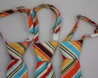 Retro Stripe Clip on Necktie - Infant, Toddler, Boys