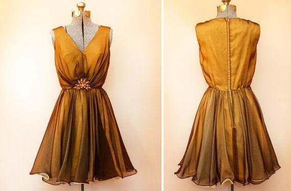 Amber Yellow Vintage Dress