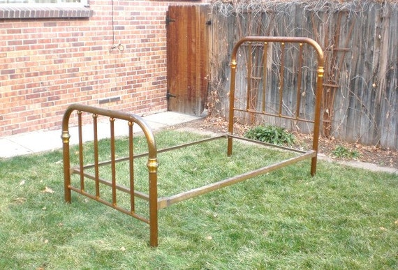 antique brass bed frame 1