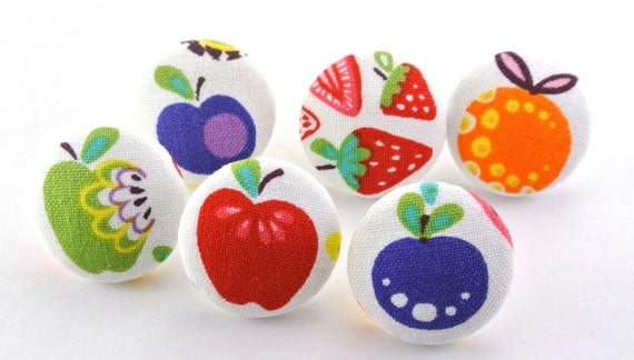fruit salad pushpins magnets