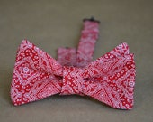 Squared Paisley Bow Tie