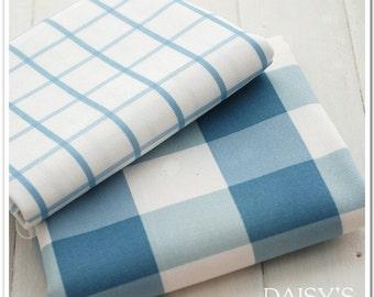 Cotton Linen Fabric Cloth -DIY Cloth Art Manual Cloth - Cotton Linen Grid Cloth 57x19 Inches