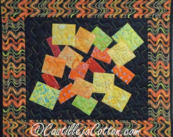 Cubes Wall Hanging, 4653-0, abstract wall quilt. comtempary art quilt, bright colors wall quilt