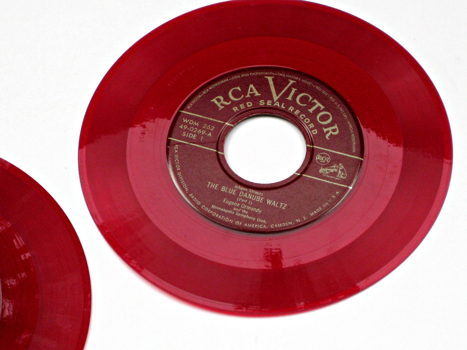 Rca Victor Red Seal Red Vinyl Records Set Of 2 Strauss
