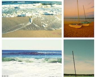 Sailing Open Sea Photo Collection- Fine Art Photopgraphy- Four 5x7 prints- Alana Gillett- Surf Sand Waves Sea Ocean Beach Sky Wall Art Decor