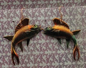 Leaping Fish Earrings