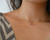 Sideways Initial Necklace 16""