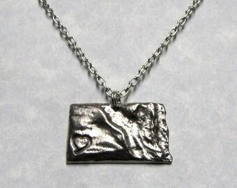 North Dakota Love State Necklace