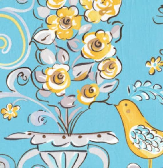 Reserved dena designs fabric tea garden honey bush blue 4 for Dena designs tea garden fabric
