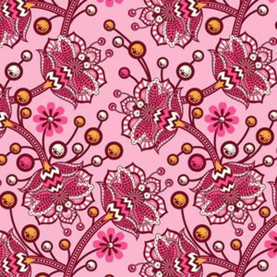 LAST YARD Tula Pink Fabric Bees Knees Sunset The Birds & The Bees One Yard