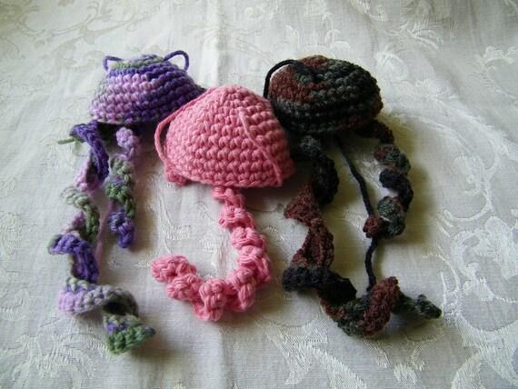 SALE - Amigurumi Jellyfish Crocheted - By My Sister