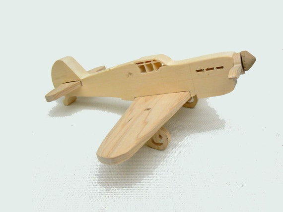 Wooden Toy Plane Ww2 fighter plane wood toy