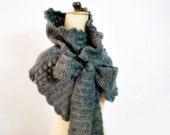 Crochet Pattern Cowl Wrap Neck Warmer with Bow Ties, Crochet Scarf Pattern, DIY, 214