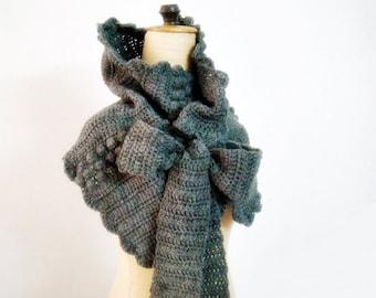 Cowl Crochet Pattern, Crochet Wrap Pattern, Pattern Neck Warmer with Bow Ties, Crochet Scarf Pattern, DIY, 214