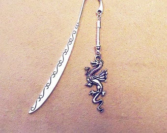 Beadable Dragon Bookmark for European Beads with screw cap
