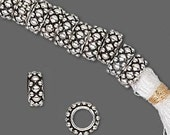 Large Hole Sterling Silver Beaded Spacer Bead