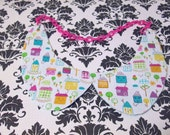 Adorable Kawaii Anthropomorphic Houses Pastel Soft Color Sweet Peter Pan Collar