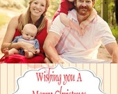 One Photo Simple Elegant Christmas Card-YOU PRINT