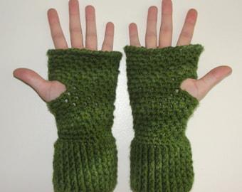 Crochet Mitten Pattern, Fingerless Glove Pattern,  Grand Central Station Hand Warmers