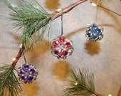 Chainmaille Dodecahedron / Japanese Ball Christmas Ornament / Key Chain