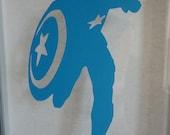 Captain America Silhouette Avengers Papercut 4.5X7 BLUE