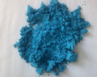 Powdered Mica BRIGHT BLUE Soap Color Mineral Makeup Soapmaking Candles Spa Products