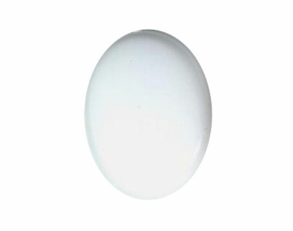 1dz White 30x22mm Plastic Blank Cabochon acrylic cabochon paint or apply decals customizible 802q