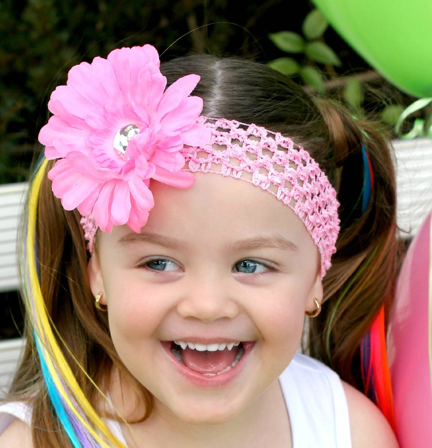 Pink Flower Headband Hair Bow Baby Headband Toddler