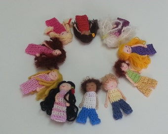 10 pcs Girls and Boys finger Puppets
