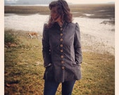 Custom made victorian inspired button front Riding Jacket- made to your measurements