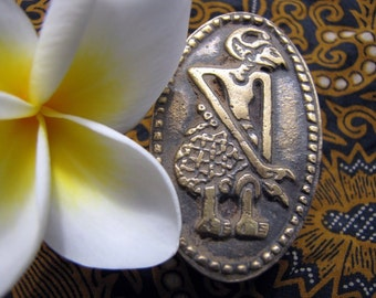Wayang Indonesian Puppet Brass Drawer Pull 52mm